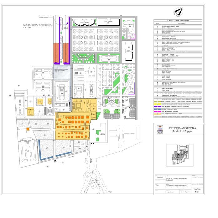Variante Piano regolatore cimiteriale (CARTINA - da atti Comune di Manfredonia) IMMAGINE D'ARCHIVIO