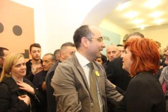 In primo piano il sindaco di Manfredonia Angelo Riccardi (ph: Antonio Troiano)