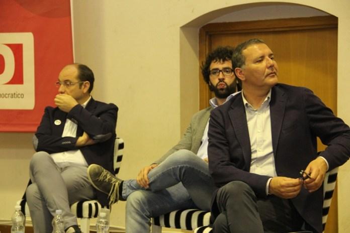 Da sx: Angelo Riccardi, Giuseppe Trotta, Paolo Campo (PH: ANTONIO TROIANO)