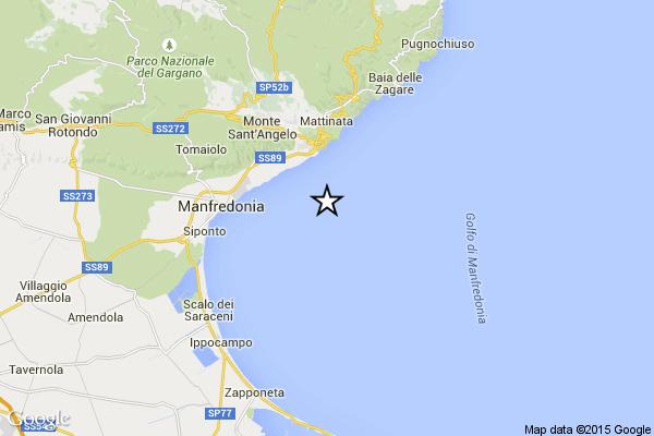 Terremoto a Manfredonia il 12 luglio 2015
