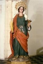 La Sacra Statua di Santa Lucia nella chiesa di S.Francesco d'Assisi (foto di copertina)