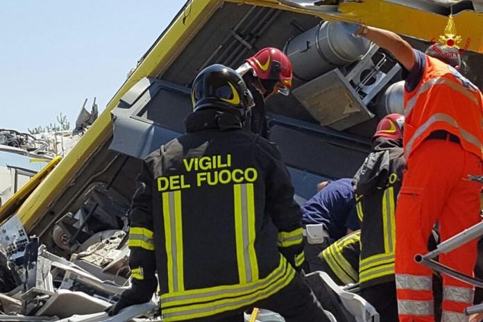 Incidente scontro treni in Puglia