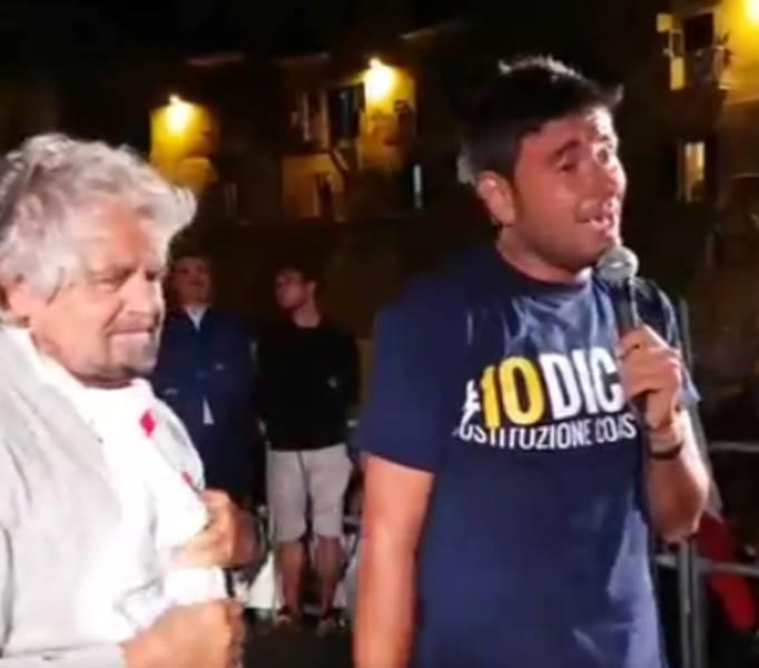 Grillo e Di Battista a Vieste (facebook)