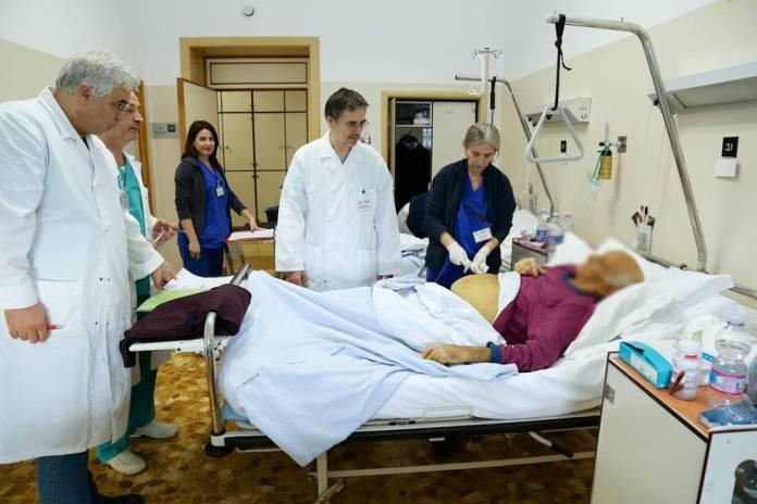L'équipe di Chirurgia Addominale durante la visita