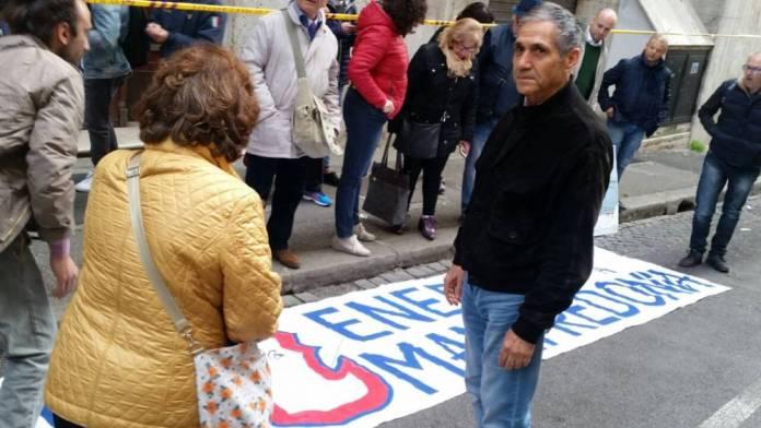 Manifestazione fuori il MISE di Roma (st)