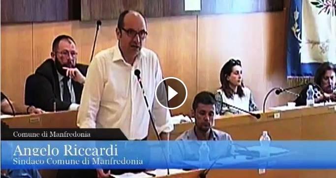 Intervento del sindaco di Manfredonia Riccardi (Consiglio comunale 27.06.2017)