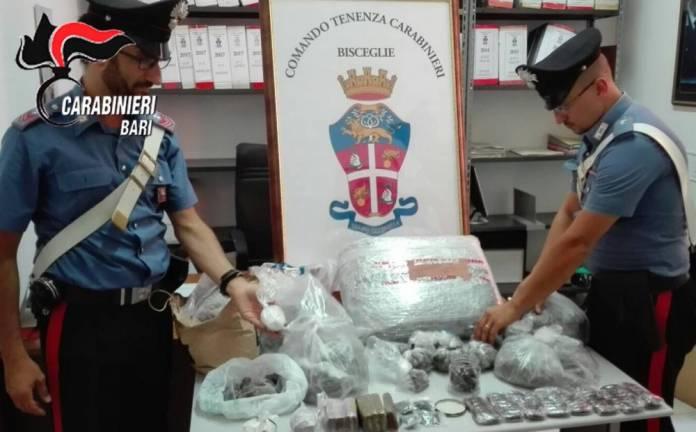 Droga sequestrata Bisceglie