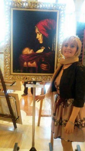 """*L'opera """"Riflessione"""" di Luisa Andaloro esposta in anteprima a Palazzo Zenobio"""