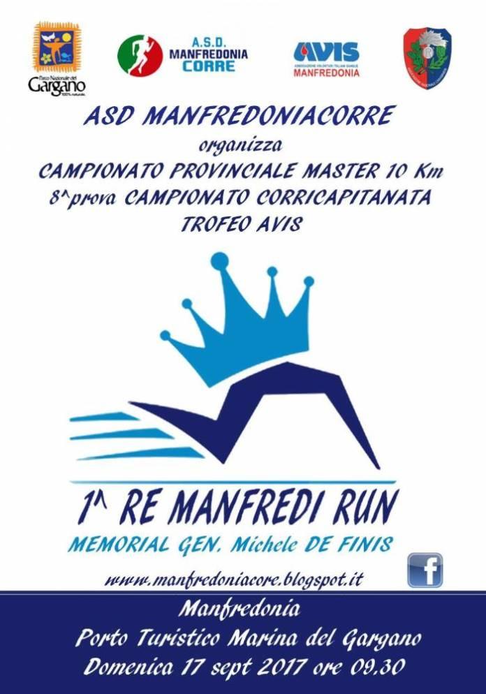 MANFREDONIA, 1° RE MANFREDI RUN