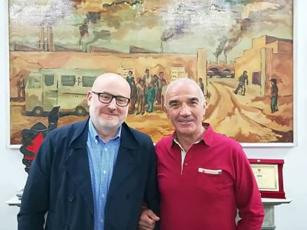 Firenze-Mimmo Palmieri insieme a Luigi Conte presidente Avis di Firenze