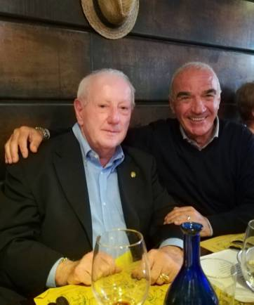 Mimmo Palmieri insieme ad Adelmo Agnolucci, presidente dell'AVIS Regionale Toscana