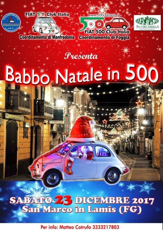 23 12 2017 Babbo Natale in 500 a San Marco in Lamis