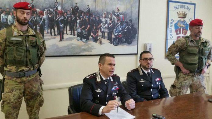 FOGGIA, CONFERENZA STAMPA ARRESTI PER ESTORSIONE A VIESTE (PH ENZO MAIZZI, 20 03 2018)