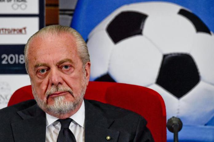 Aurelio De Laurentiis, patron del Napoli ANSA / CIRO FUSCO
