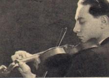 Il violinista Giuseppe Prencipe in giovane età