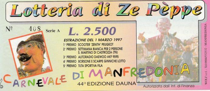 Carnevale 1997-Lotteria Zepèppe