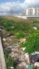 Immondizia e arbusti in discesa via Gen. La Marmora