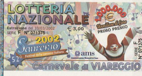 Lotteria Nazionale - Carnevale di Viareggio-Putignano e Manfredonia