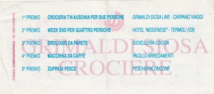 Premi Lotteria Zepèppe -Carnevale 1987