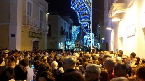 Rientro processione Sacro Quadro della Madonna del Carmine