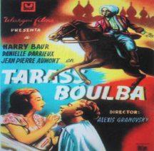 Manifesto film Taras Bulba -stampato in Francia-1° film proiettato al cinema Impero negli anni '30.