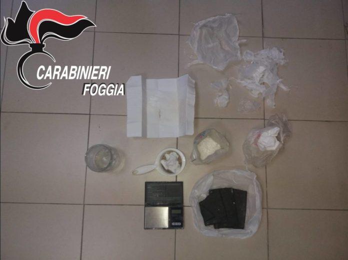 Manfredonia, spaccio droga: 50enne arrestato in flagranza di reato