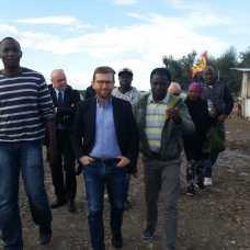 I braccianti ricevono la visita del Ministro per il Sud Venerdì 8 novembre a Foggia