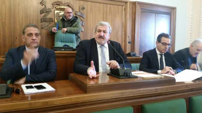 """""""Il 10 gennaio 2020 è una data destinata a rimanere nella storia della Puglia e dell'Italia"""". emiliano a foggia (ph enzo maizzi, 15.01.2020)"""