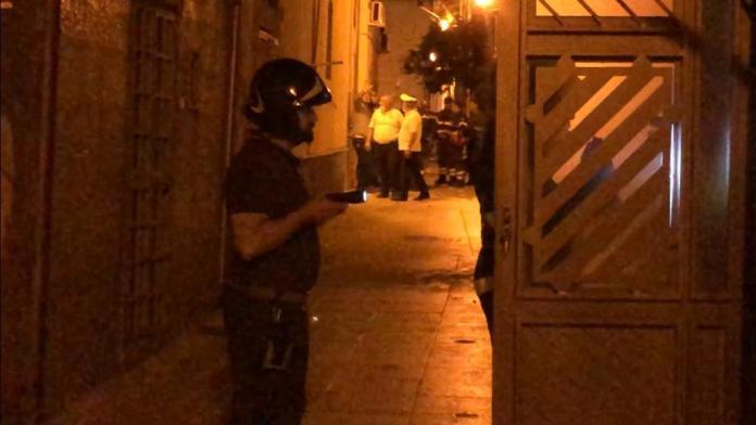 L'intervento dei Vigili del fuoco in vico Civetta (SQ)