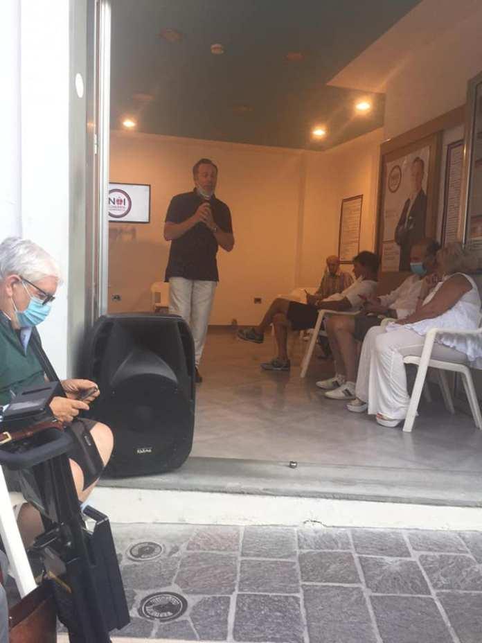 Michele Bisceglia e un momento del primo forum