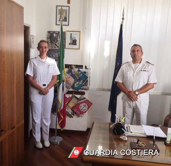 Terminerà oggi, dopo circa due mesi, il tirocinio pratico della Guardiamarina D'ASCANIO Teresa presso la Capitaneria di Porto di Manfredonia.