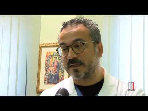 Foggia, 23 ottobre 2020. Il dottor Livio Tullio tra i dipendenti risultati positivi al Covid_19 del reparto di rianimazione del Policlinico Riuniti di Foggia