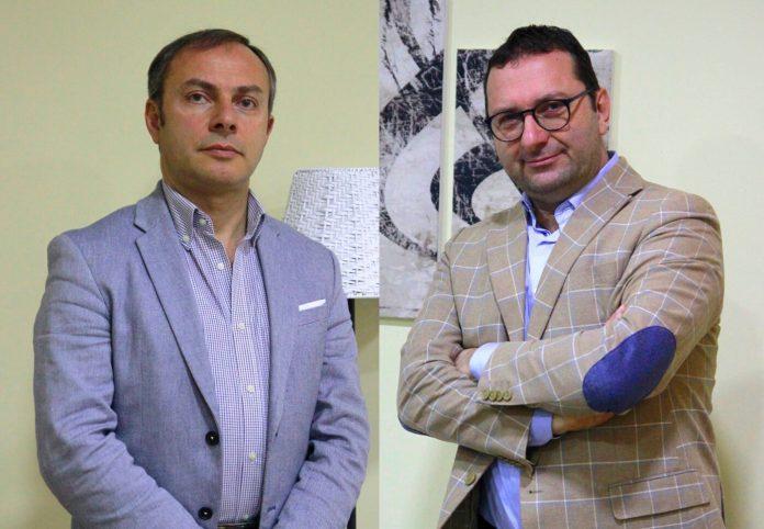 Lorenzo Ciuffreda, direttore artistico del Concorso musicale Giordano, e il presidente Gianni Cuciniello