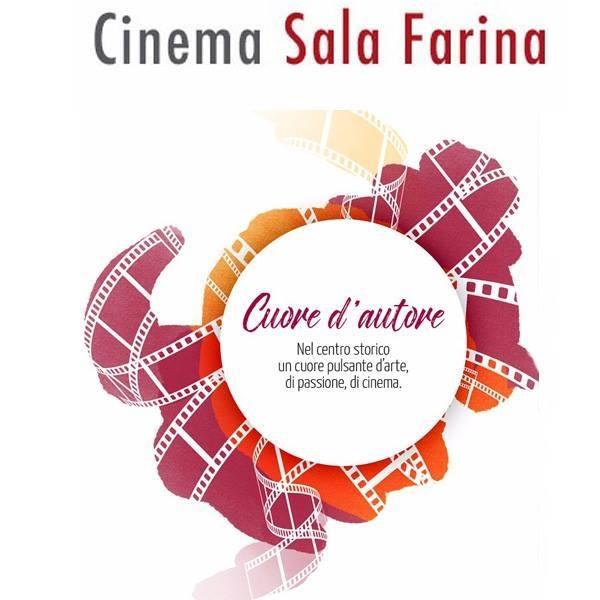 """IlCineteatro Sala Farina riapre al pubblico dall'10 giugno 2021 con la rassegna estiva """"Cinema in Chiostro""""presso il Chiostro della Basilica Cattedrale di Foggia."""
