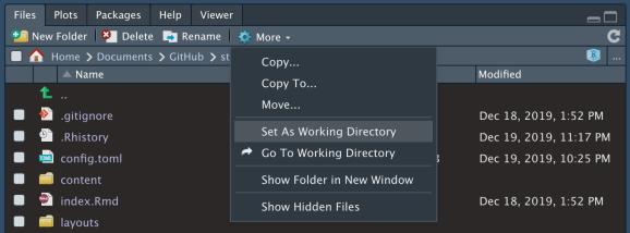 Set working directory in RStudio (user-friendly method)