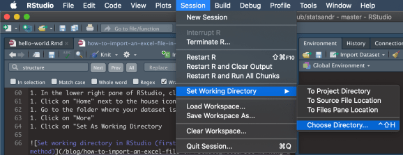 Set working directory in RStudio (user-friendly method)