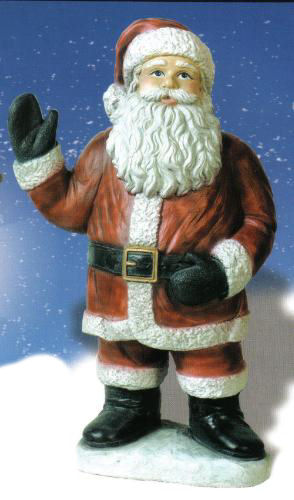 Santa Claus Christmas Sculpture Cement