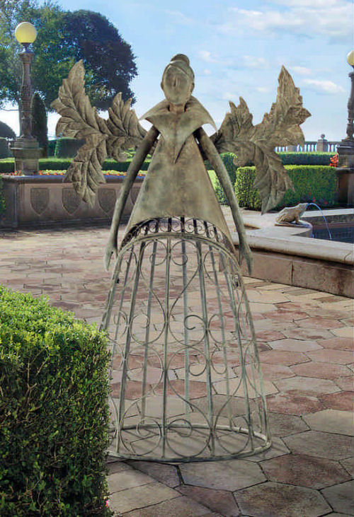Garden Trellis Fairy the Metal Tempest Sculpture