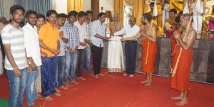 "SRS XI Contributed Money for 2 Grams of Gold towards the "" Golden Statue Of Sri Ramanujacharya"""