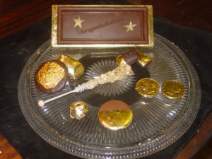 samples-of-gold-leafed-chocolate