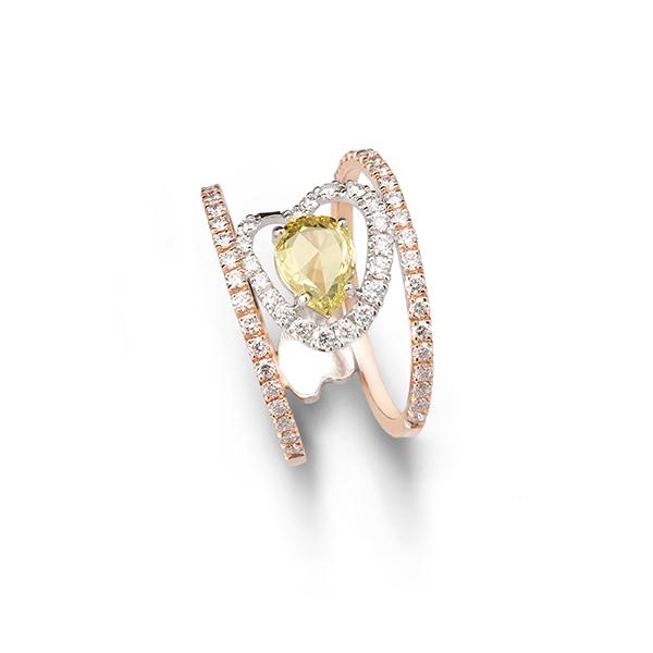 Ring Yellow rose