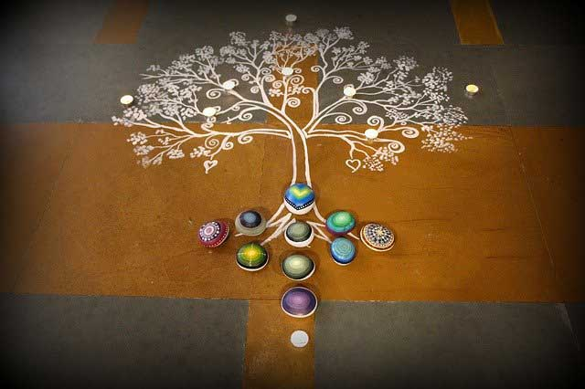 simple round rangoli designs