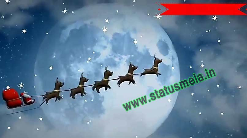 merry christmas status video download