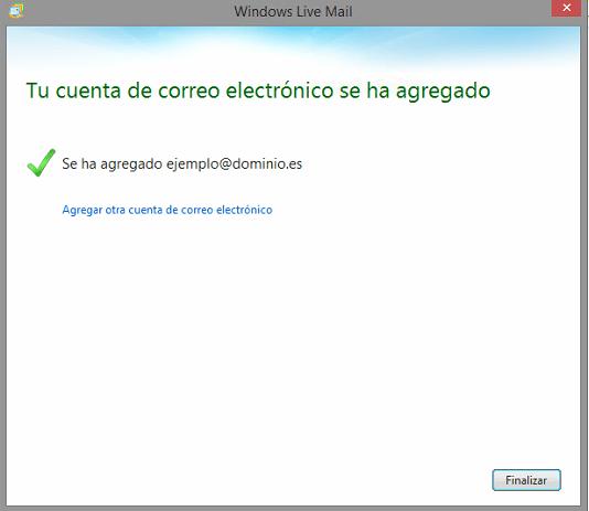 Configuración POP3 para correos en Windows 8