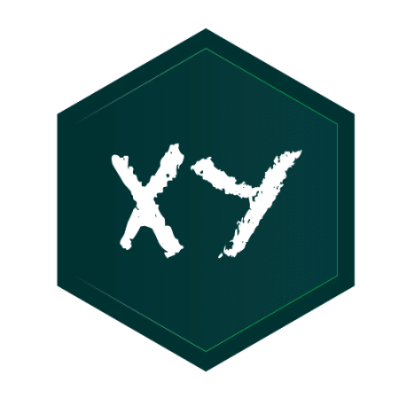 xy hexagon logo