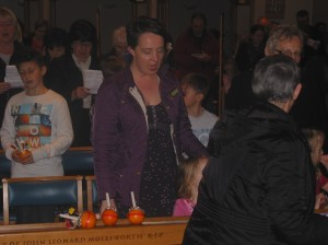 Christingle's being handed out