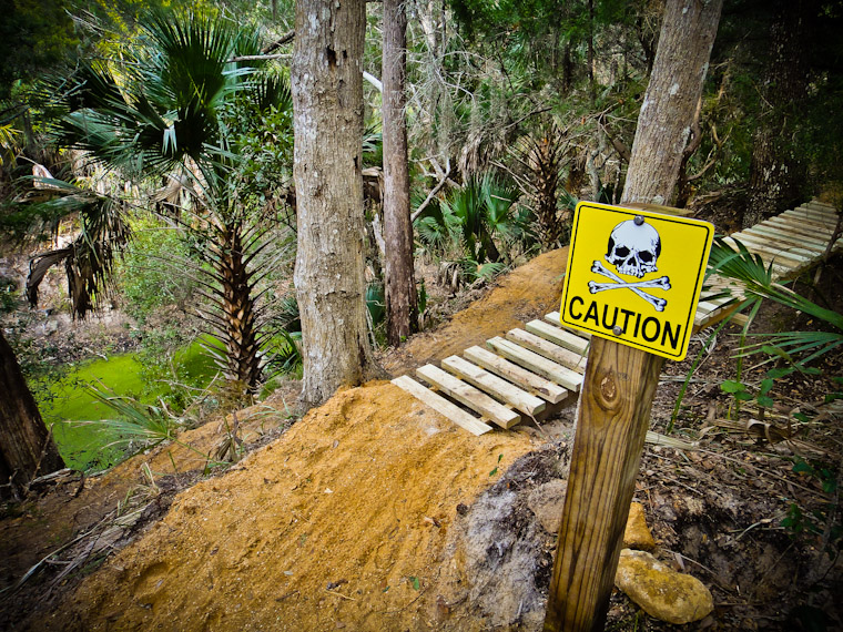 Caution Sign at Hobo's Trail