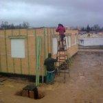Laťování vnitřních a obvodových stěn přízemí dřevostavby