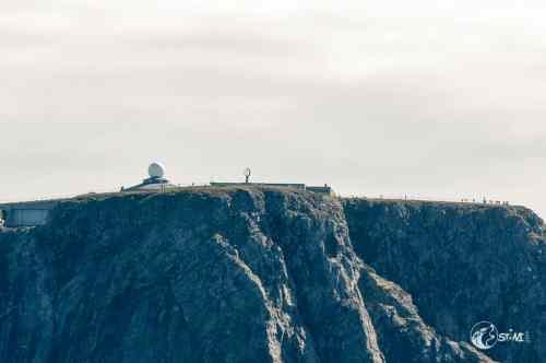Das Nordkap Plateau vom Schiff aus.
