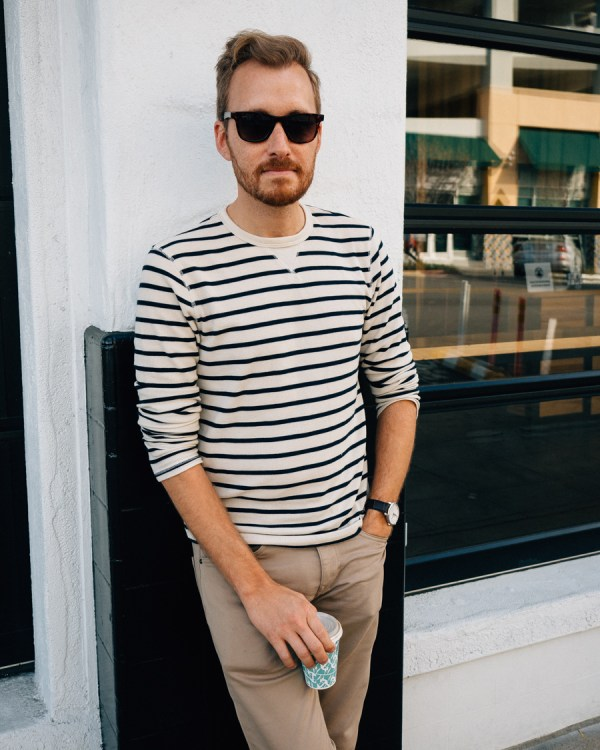 Striped Shirt and Stretchy Pants - Stay Classic